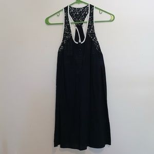 UO Kimchi & Blue Sheer Black Crossback Dress XS